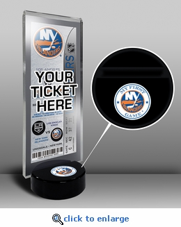 New York Islanders My First Game Hockey Puck Ticket Stand