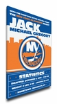 New York Islanders Personalized Canvas Birth Announcement - Baby Gift