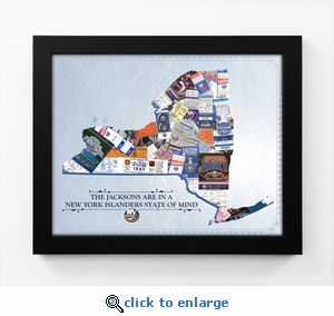 New York Islanders Personalized State of Mind Framed Print