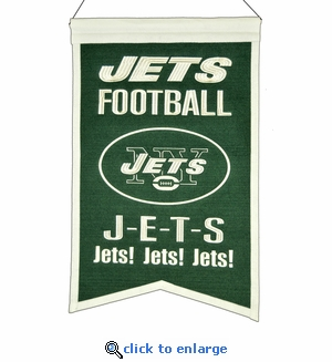 New York Jets Franchise Wool Banner (14 x 22)