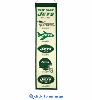 New York Jets Heritage Wool Banner (8 x 32)