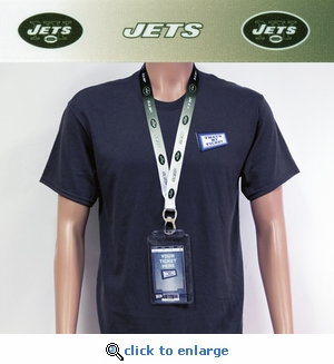 New York Jets Lanyard Key Chain Bottle Opener and Ticket Holder