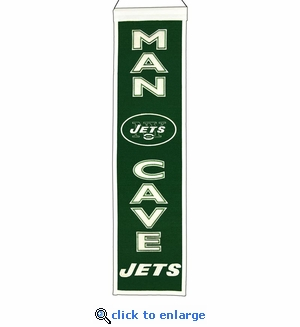New York Jets Man Cave Wool Banner (8 x 32)