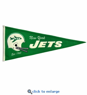 New York Jets Throwback Wool Pennant (13 x 32)