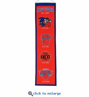New York Knicks Heritage Wool Banner (8 x 32)