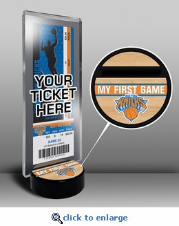 New York Knicks My First Game Ticket Display Stand