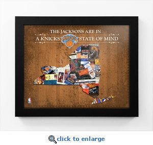 New York Knicks Personalized State of Mind Framed Print