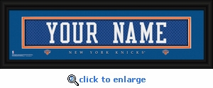 New York Knicks Personalized Stitched Jersey Nameplate Framed Print