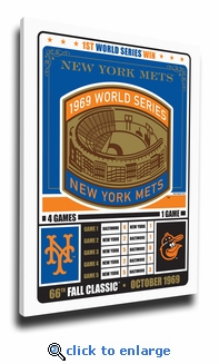 New York Mets 1969 World Series Champions Canvas Print