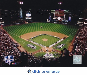 New York Mets 2000 World Series Game 3 Opening Ceremony 8x10 Photo