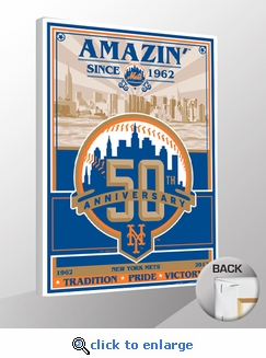 New York Mets 50th Anniversary Sports Propaganda Canvas Print