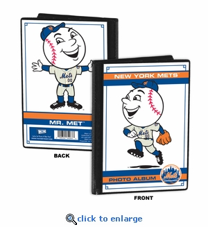 New York Mets Mascot 4x6 Mini Photo Album - Mr Met