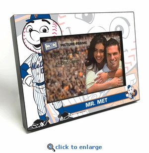 New York Mets Mascot 4x6 Picture Frame - Mr Met