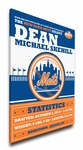 New York Mets Personalized Canvas Birth Announcement - Baby Gift