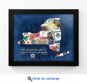 New York Mets Personalized State of Mind Framed Print