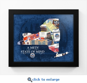 New York Mets State of Mind Framed Print