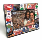 New York Mets Ticket Collage Black Wood Edge 4x6 inch Picture Frame