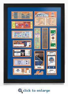 New York Mets Tickets To History - Framed Print