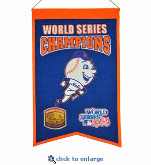 New York Mets World Series Champions Wool Banner (14 x 22)