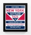 New York, New York Framed City Sign Print