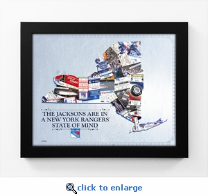New York Rangers Personalized State of Mind Framed Print