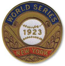 New York Yankees 1923 World Series Champions Commemorative Embroidered Patch