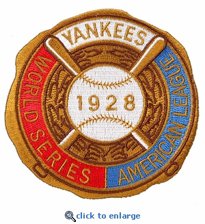 New York Yankees 1928 World Series Champions Commemorative Embroidered Patch