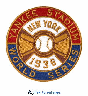 New York Yankees 1936 World Series Champions Commemorative Embroidered Patch