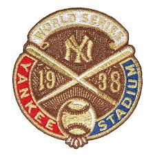 New York Yankees 1938 World Series Champions Commemorative Embroidered Patch
