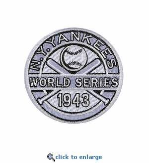 New York Yankees 1943 World Series Champions Commemorative Embroidered Patch