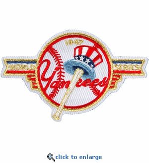 New York Yankees 1947 World Series Champions Commemorative Embroidered Patch