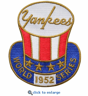 New York Yankees 1952 World Series Champions Commemorative Embroidered Patch