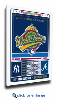 New York Yankees 1996 World Series Champions Vintage Canvas Print
