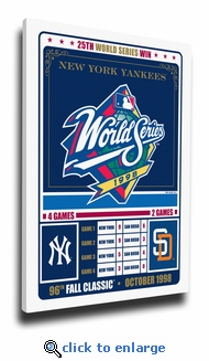 New York Yankees 1998 World Series Champions Canvas Print