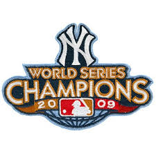 New York Yankees 2009 World Series Champions Commemorative Embroidered Patch