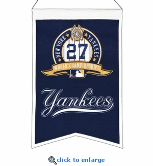 New York Yankees 27-Time World Series Champions Wool Banner (14 x 22)