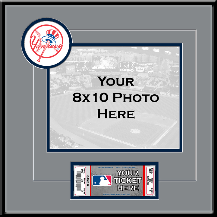 New York Yankees 8x10 Photo Ticket Frame