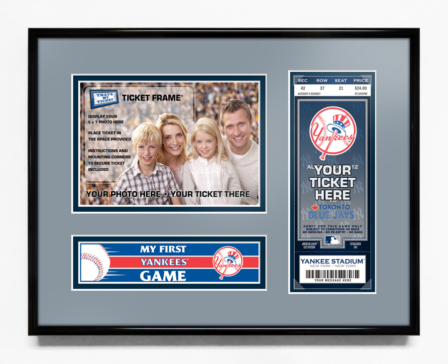 New York Yankees My First Game 5x7 Photo Ticket Frame