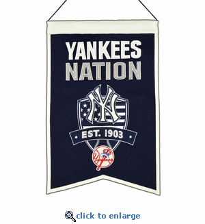 New York Yankees Nations Wool Banner (14 x 22)