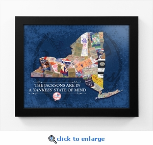 New York Yankees Personalized State of Mind Framed Print