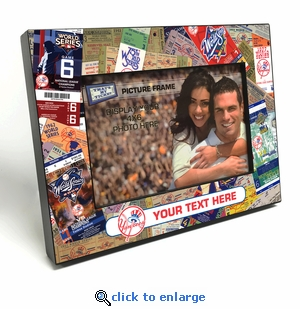 New York Yankees Personalized Ticket Collage Black Wood Edge 4x6 inch Picture Frame