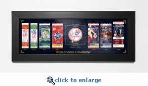 New York Yankees World Series Champions Tickets To History Framed Print - Modern Day