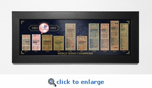 New York Yankees World Series Champions Tickets To History Framed Print - The Early Years
