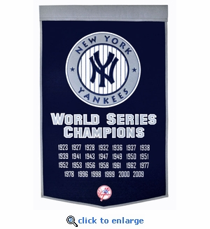 New York Yankees World Series Dynasty Wool Banner (24 x 36)