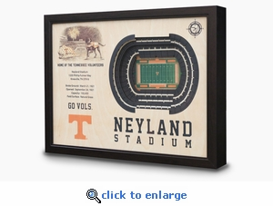 Neyland Stadium 3-D Wall Art - Tennessee Volunteers Football