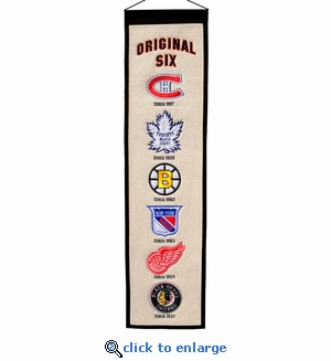 NHL Original Six Heritage Wool Banner (8 x 32)