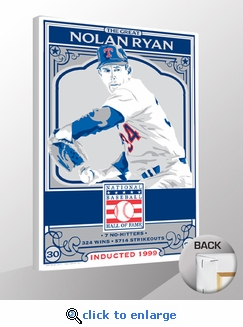Nolan Ryan Sports Propaganda Canvas Print - Rangers