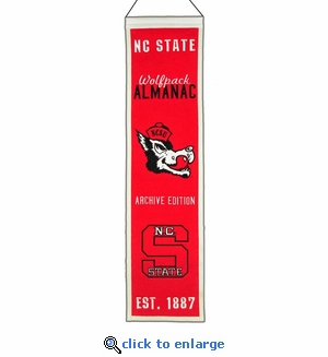 North Carolina State Wolfpack Heritage Wool Banner (8 x 32)