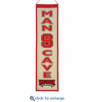North Carolina State Wolfpack Man Cave Wool Banner (8 x 32)