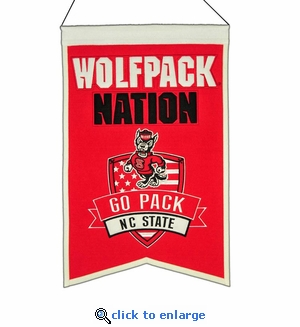 North Carolina State Wolfpack Nations Wool Banner (14 x 22)